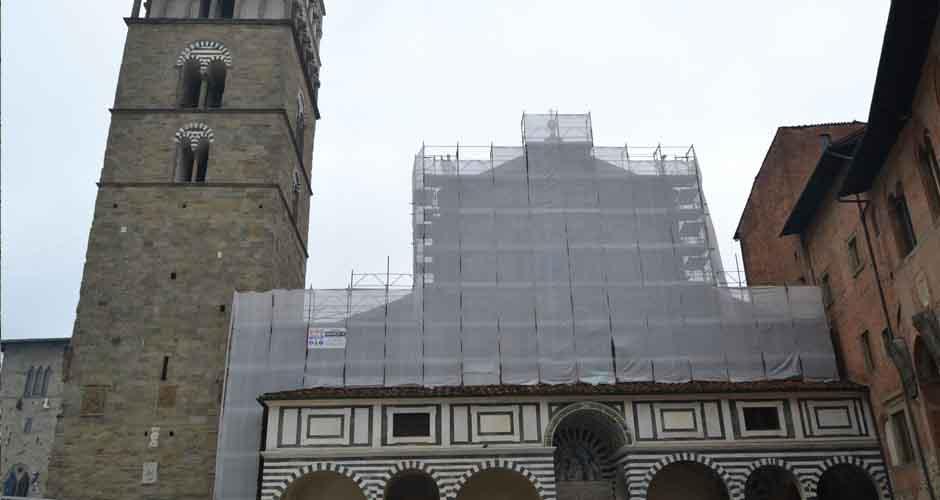 Ponteggio Duomo Pistoia